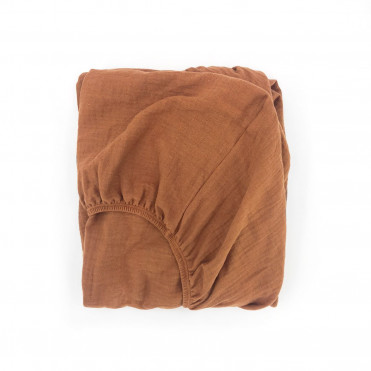 CARAMEL POWDER FITTED SHEET CHANGING MAT COVER