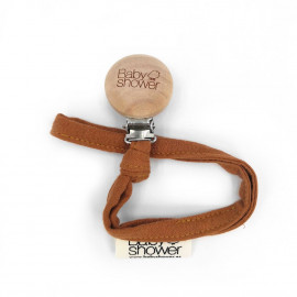 CARAMEL POWDER WOOD SUSPENDER CLIP