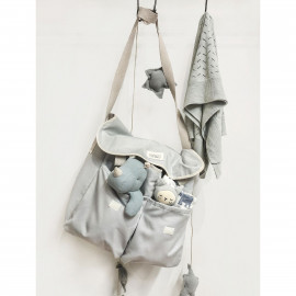 GREY CANVAS STROLLER BAG