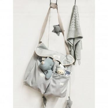 GREY CANVAS STROLLER BAG
