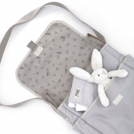 GREY CANVAS PANIER STROLLER BAG