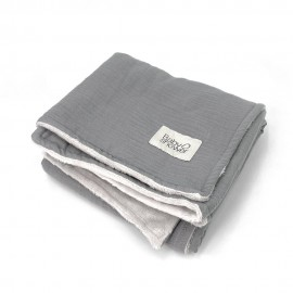 GREY POWDER FLEECE BLANKET