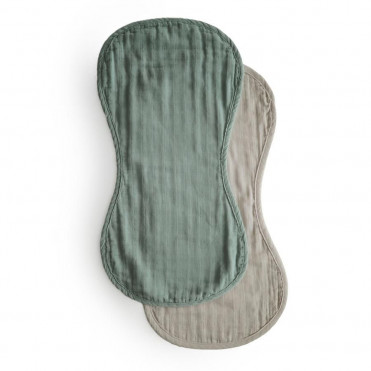 GREY  & WHITE SET OF 3 MINI-TOWELS