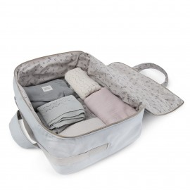 GREY CANVAS TRAVEL SUITCASE