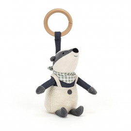 PELUCHE LITTLE RAMBLER BADGER RATTLE