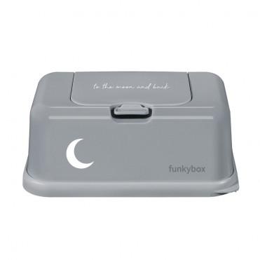 CAJA TOALLITAS FUNKY BOX MOON GRAY