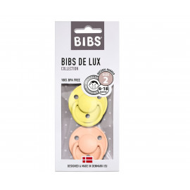 PACK 2 CHUPETES BIBS DE LUX CLOUD/OAK