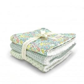 LIBERTY MICHELLE SET OF 3 MINI-TOWELS