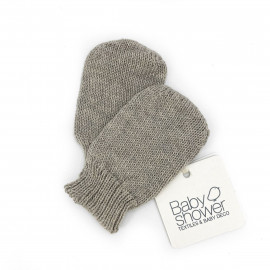 BIO CLOUD TRICOT BABY MITTENS