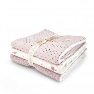 MALVA BLOOM SET OF 3 MINI-TOWELS