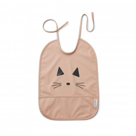 WATERPROOF BIB CAT ROSE FACE