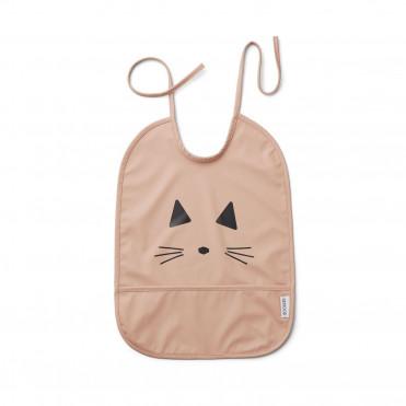 WATERPROOF BIB CAT ROSE FACE