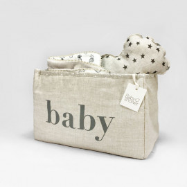 WHITE MINISTAR NAPPIES BASKET