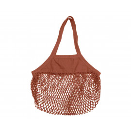 ORGANIC COTTON MESH BLACK BAG