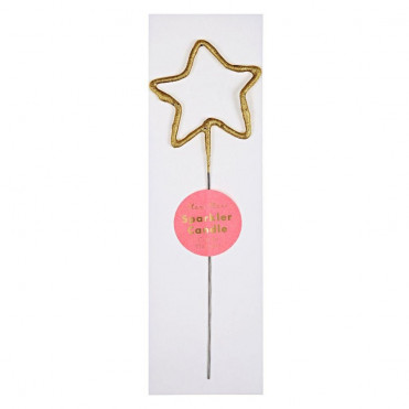 GOLD SPARKLER STAR CANDLE