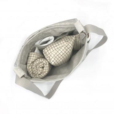 RAINY LINEN PANIER STROLLER BAG