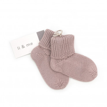 CHAUSSETTE TRICOT ROSE