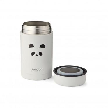 PANDA LIGHT GREY FOOD JAR 500 ML