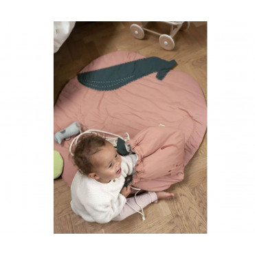 QUILTED BLANKET PEACH