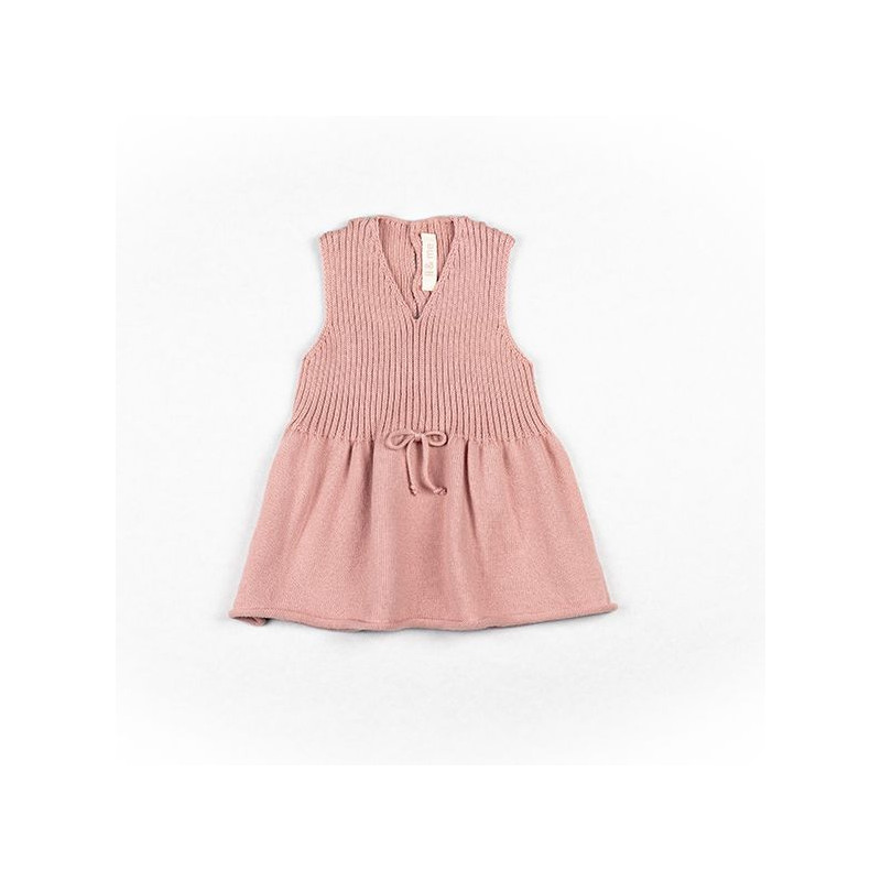 TRICOT ROSE BOW DRESS