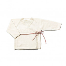 DOUBLE-BRESTED BABY JERSEY TRICOT ROSE