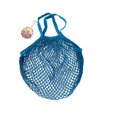 ORGANIC COTTON MESH GREEK BLUE BAG