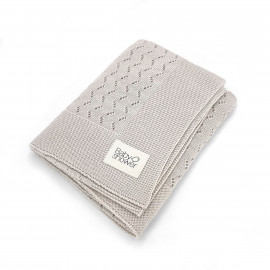 PURE WHITE TRICOT KNIT BLANKET
