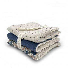 LIBERTY POPPIES SET OF 3 MINI-TOWELS