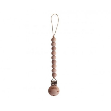 MUSHIE CLEO WOOD PACIFIER CLIP