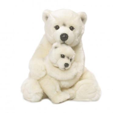 POLAR BEAR MOTHER & CHILD
