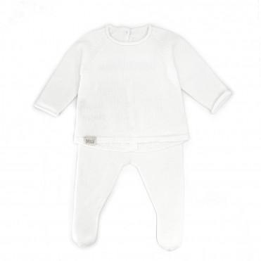 BABY TRICOT WHITE SET