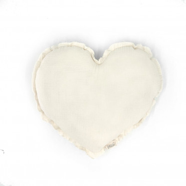 HEART IVORY POWDER CUSHION