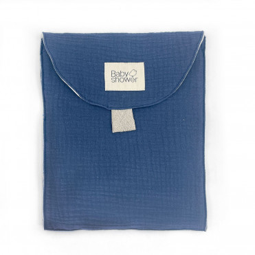 TRAVEL POCKET BLUE JEAN POWDER