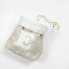 BEIGE LINEN DUMMY BAG